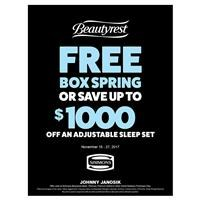 Beautyrest Free Box Spring or Save Up To $1000 on Adjustable Sleep Sets