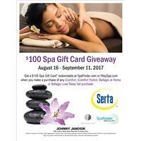 Serta Spa Gift Card Giveaway