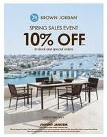 10% Off Brown Jordan Outdoor Furniture