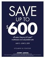 Take up to $600 Off select Stearns & Foster Sleep Sets