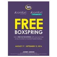 Serta iComfort & iComfort Hybrid Free Flat Boxspring