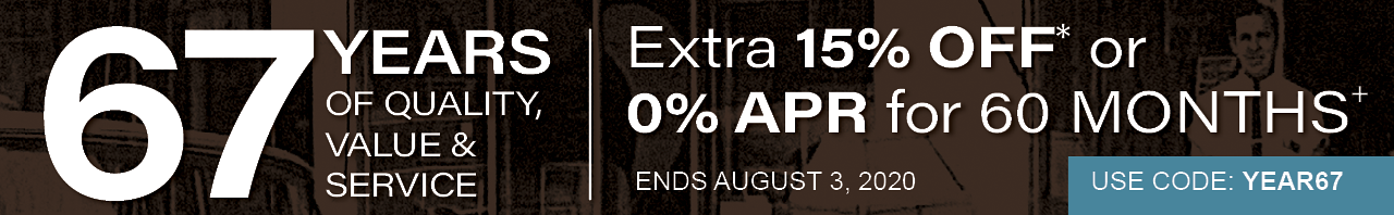 Save 15% on eligible items OR get 0% APR for 60 months