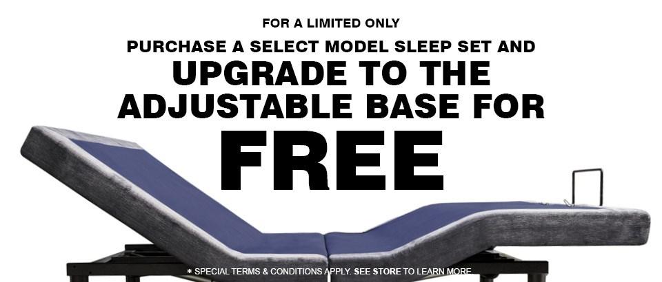 Free adjustable base Upgrade