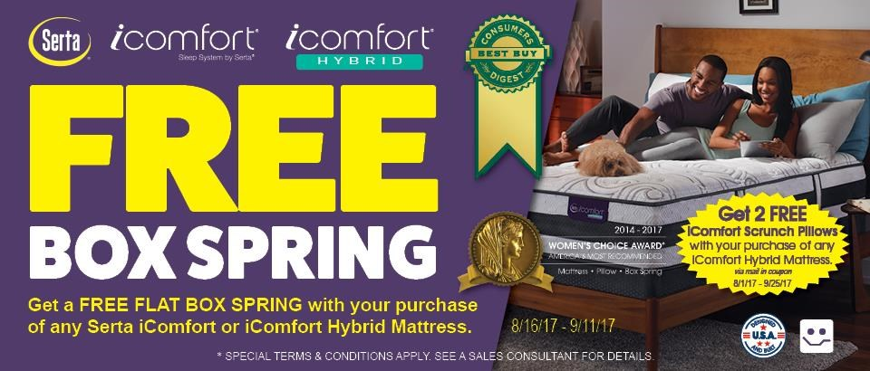 iComfort & iComfort Hybrid Free Box Spring