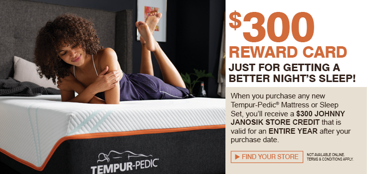 Buy a Tempur-Pedic, Get $300 store credit