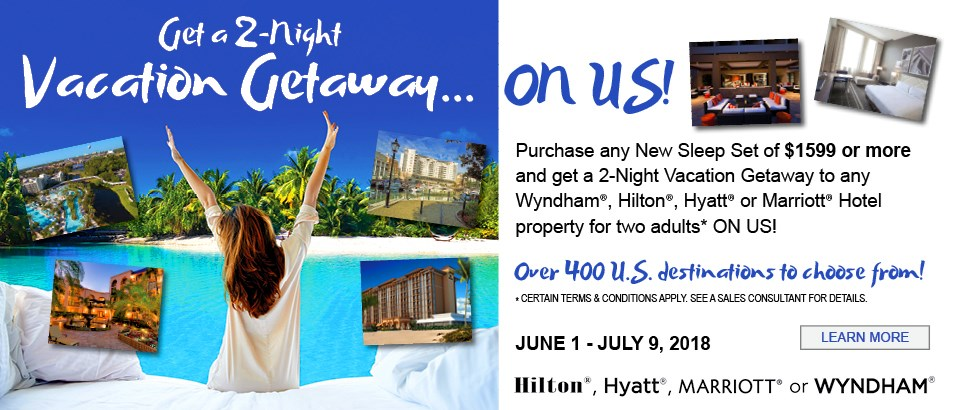 Get a 2-Night Vacation Getaway ON US!