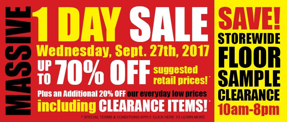 One Day Wednesday Sale