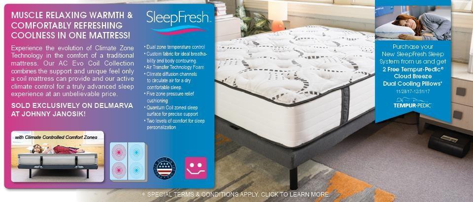 The New SleepFresh Climate Control Mattress.