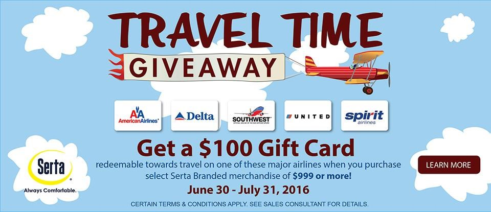 Serta's Travel Time Giveaway
