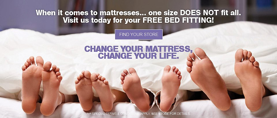 Visit us today for your Free Bed Fitting!
