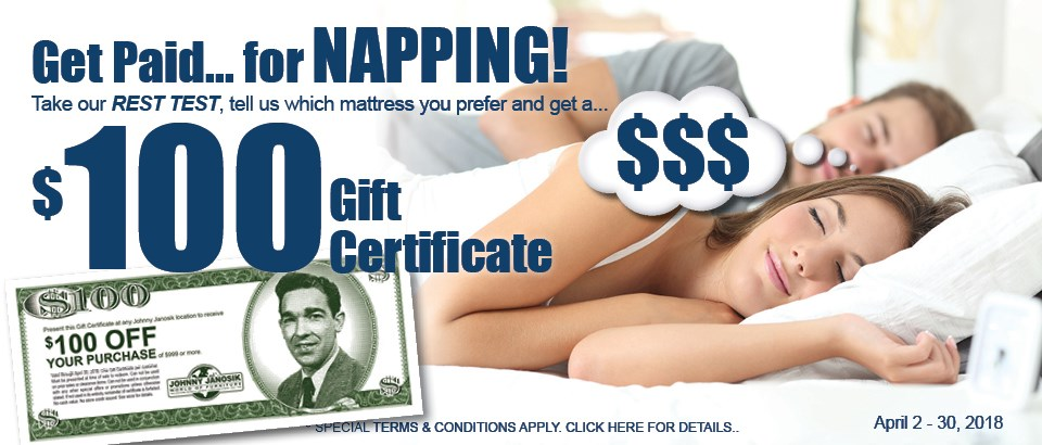 Take the Rest Test for your $100 Gift Certificate