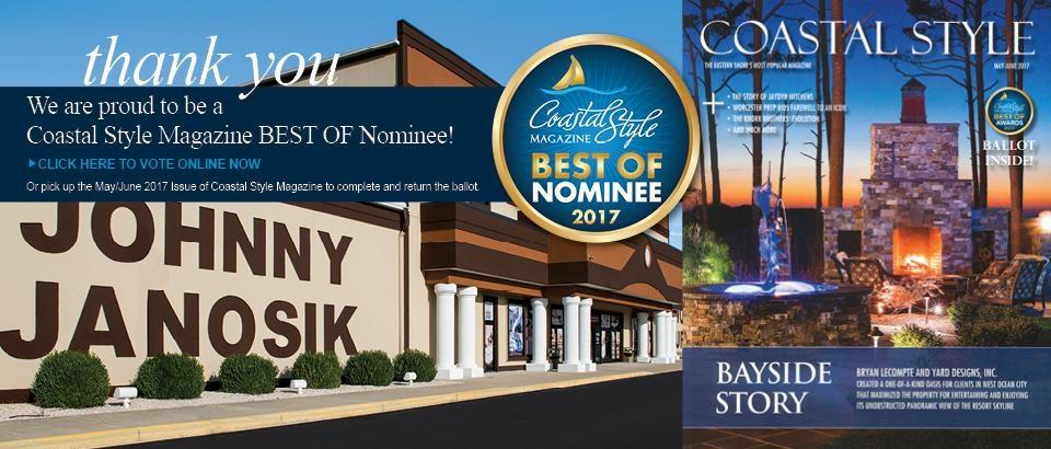 Vote for Johnny Janosik for Coastal Style Magazine's