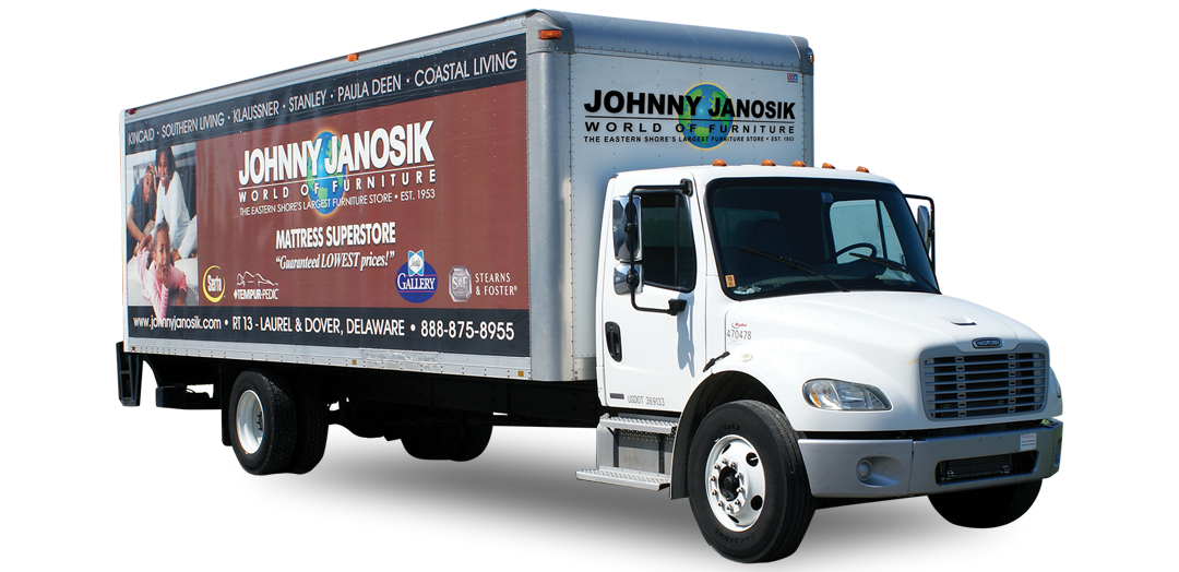 Track Your Delivery Johnny Janosik Delaware Maryland Virginia