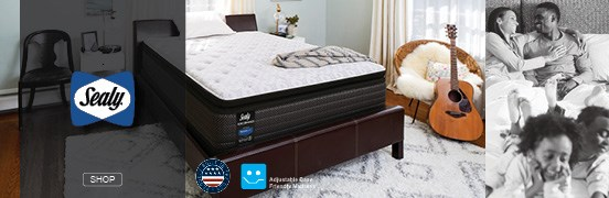 Click to shop Sealy Mattresses