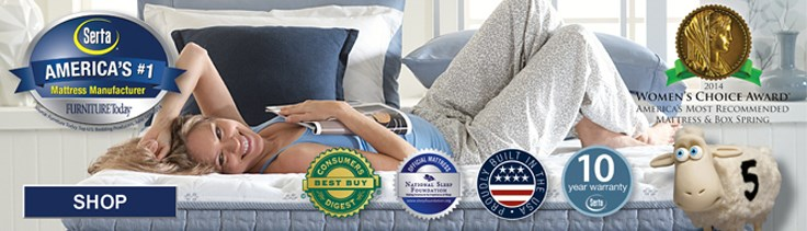 Serta, America's Number one mattress manufacturer, click to shop