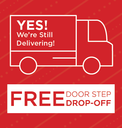 free door stop drop off or free in-home delivery