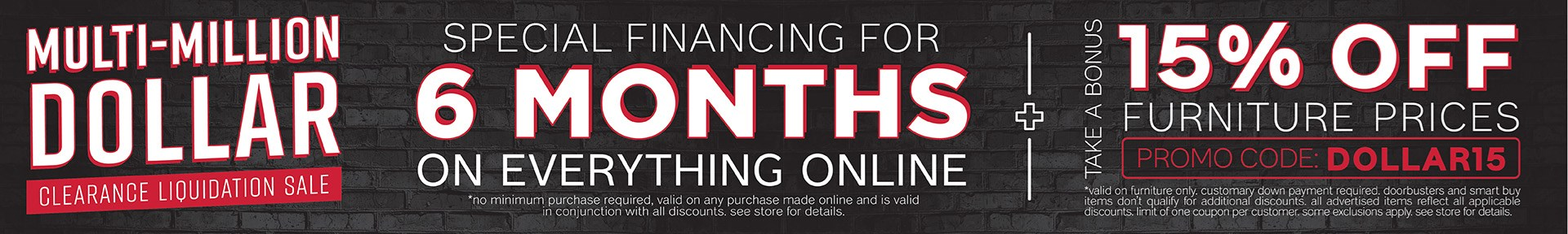 Furniture & ApplianceMart Clearance Event