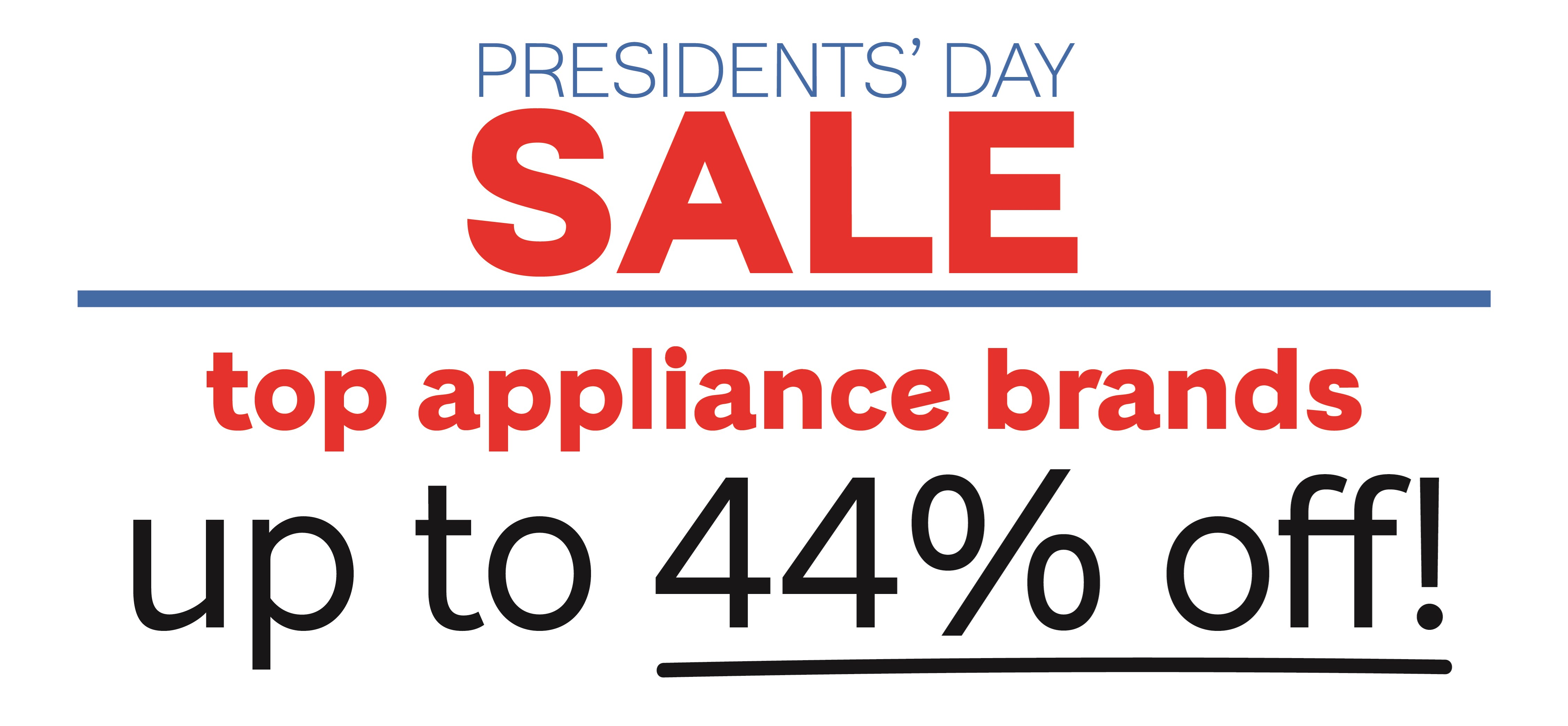 Presidents' Day Appliance Browse Page