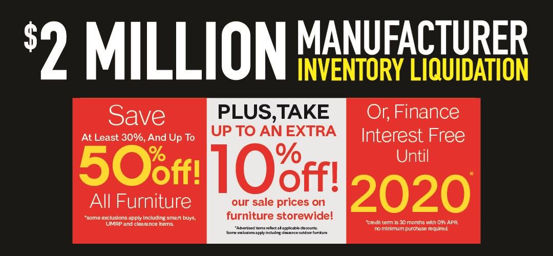 Manufacturer Inventory Liquidation Public