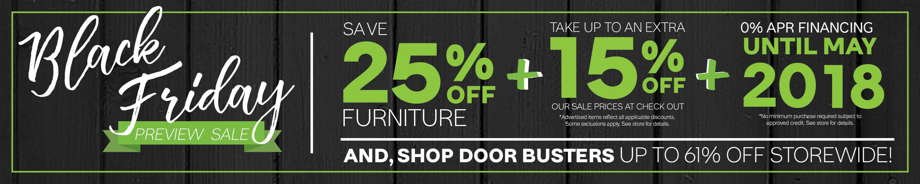 Furniture & ApplianceMart Black Friday Preview Sale
