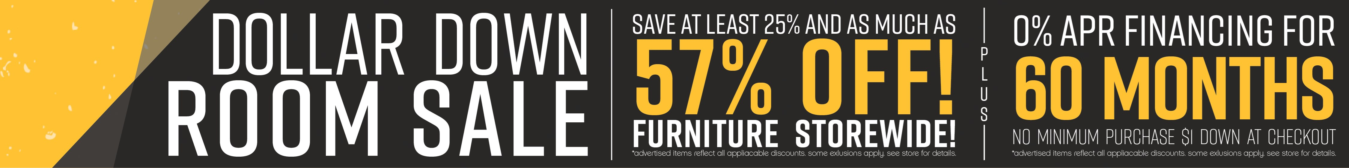 Furniture & ApplianceMart Dollar Down Sale