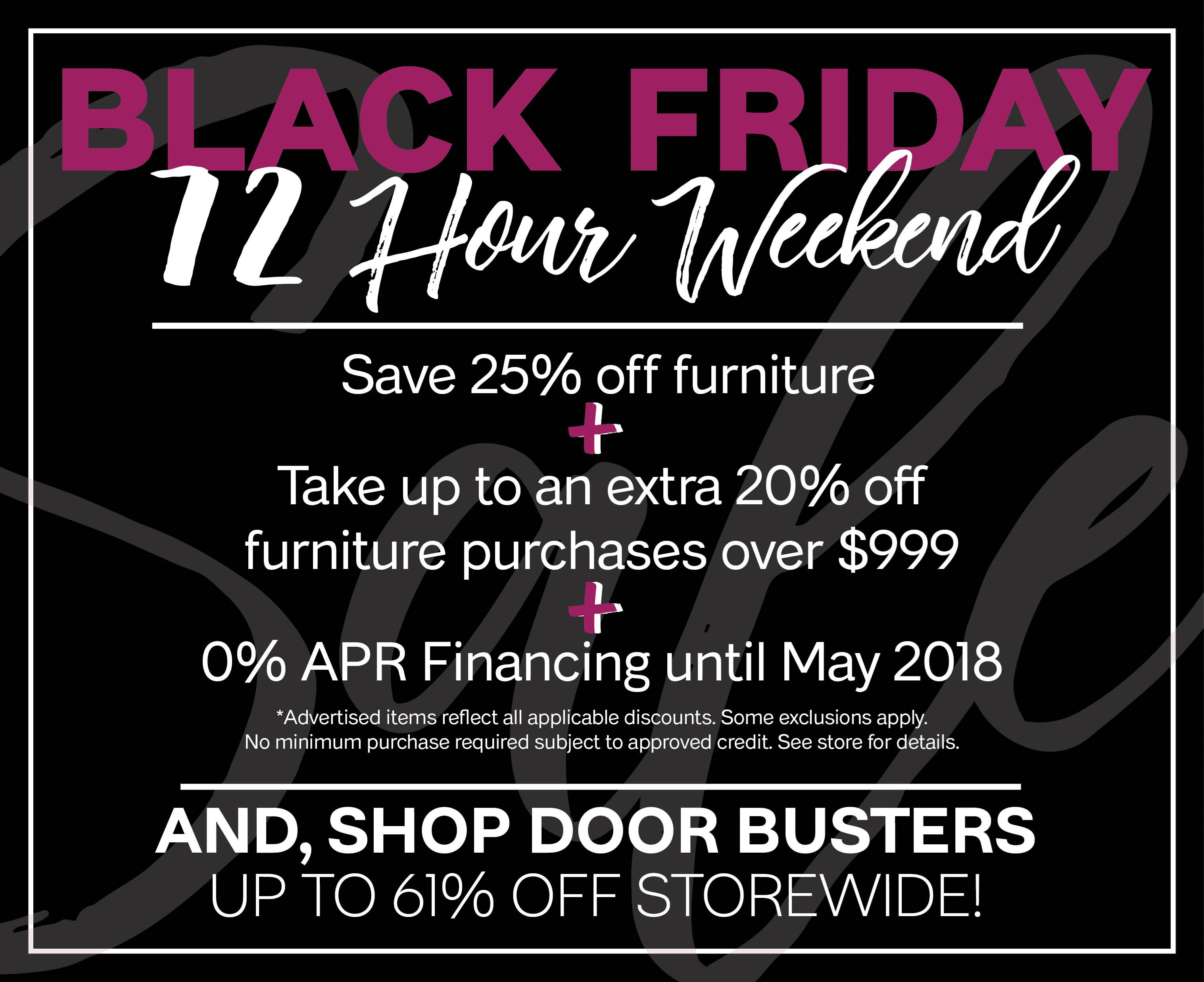 Furniture & ApplianceMart Black Friday 72 Hour Weekend