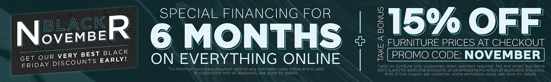 Furniture & ApplianceMart Black November Sale