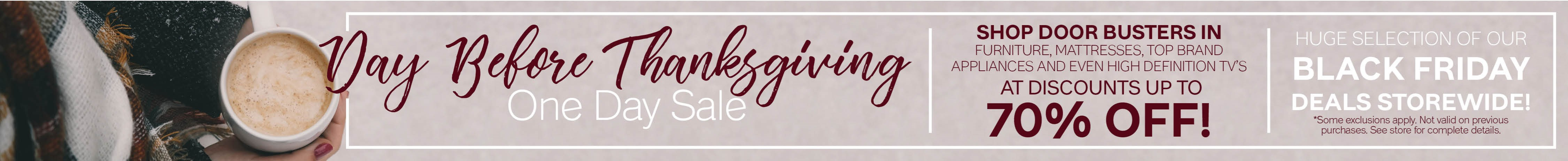 Furniture & ApplianceMart Day Before Thanksgiving 1 Day Sale
