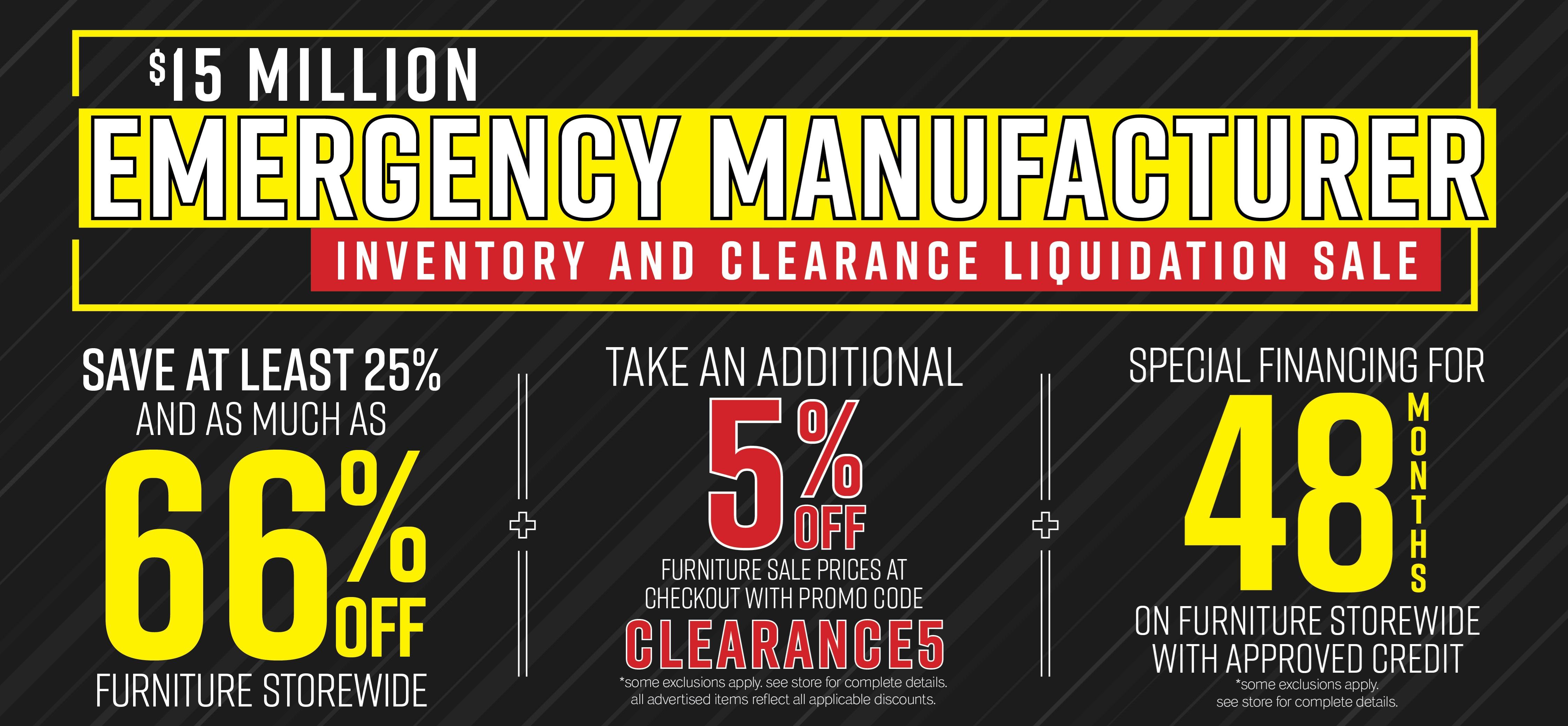 Furniture & ApplianceMart Emergency Manufacturer Liquidation Sale