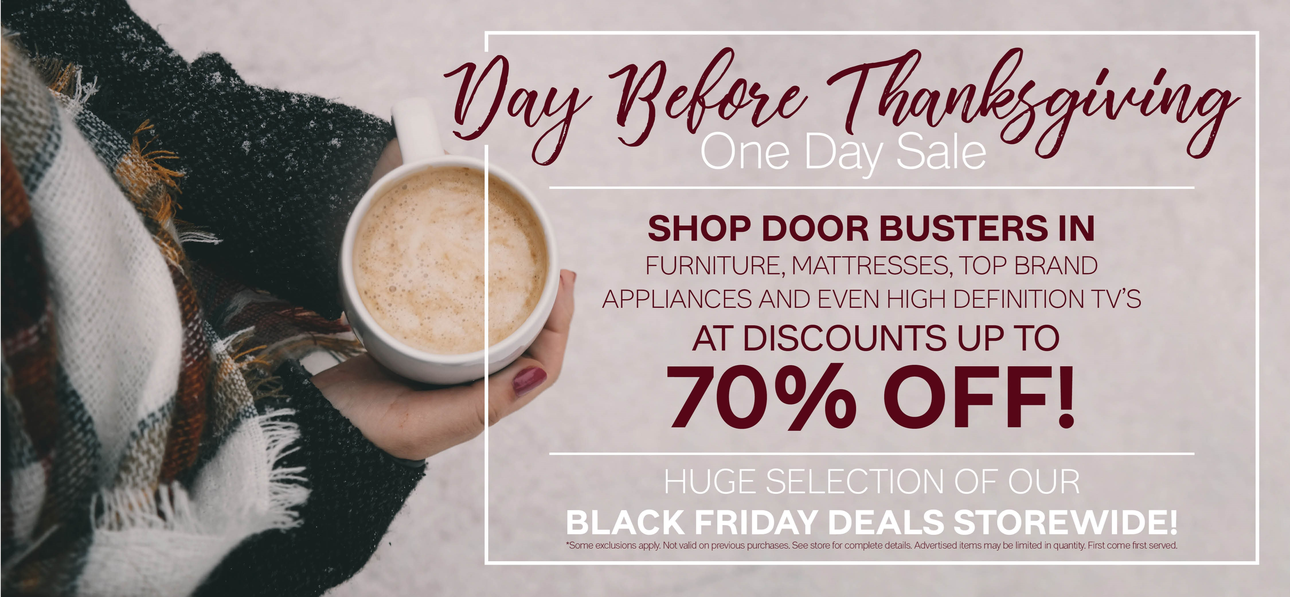 Furniture & ApplianceMart Day Before Thanksgiving Sale