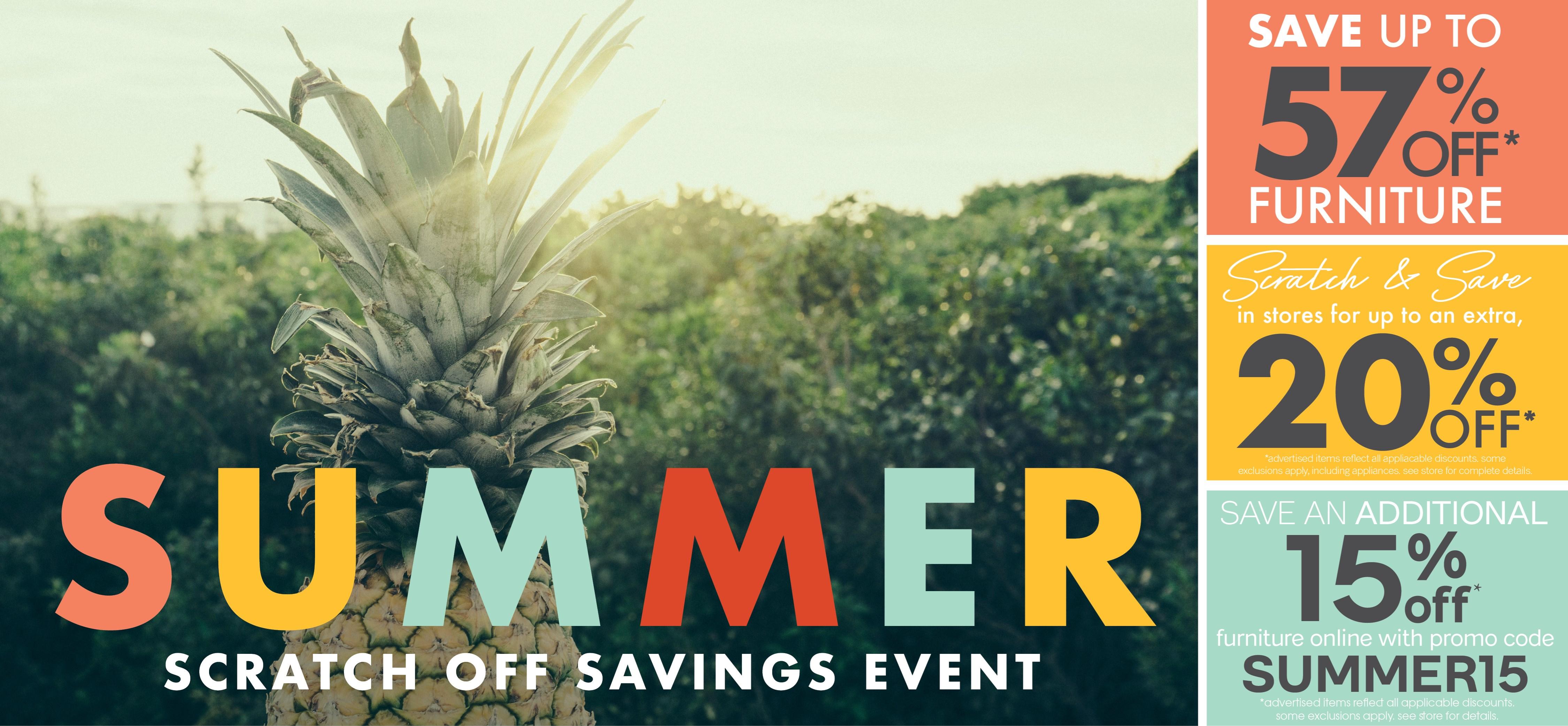 Furniture & ApplianceMart Summer Scratch off Savings Event