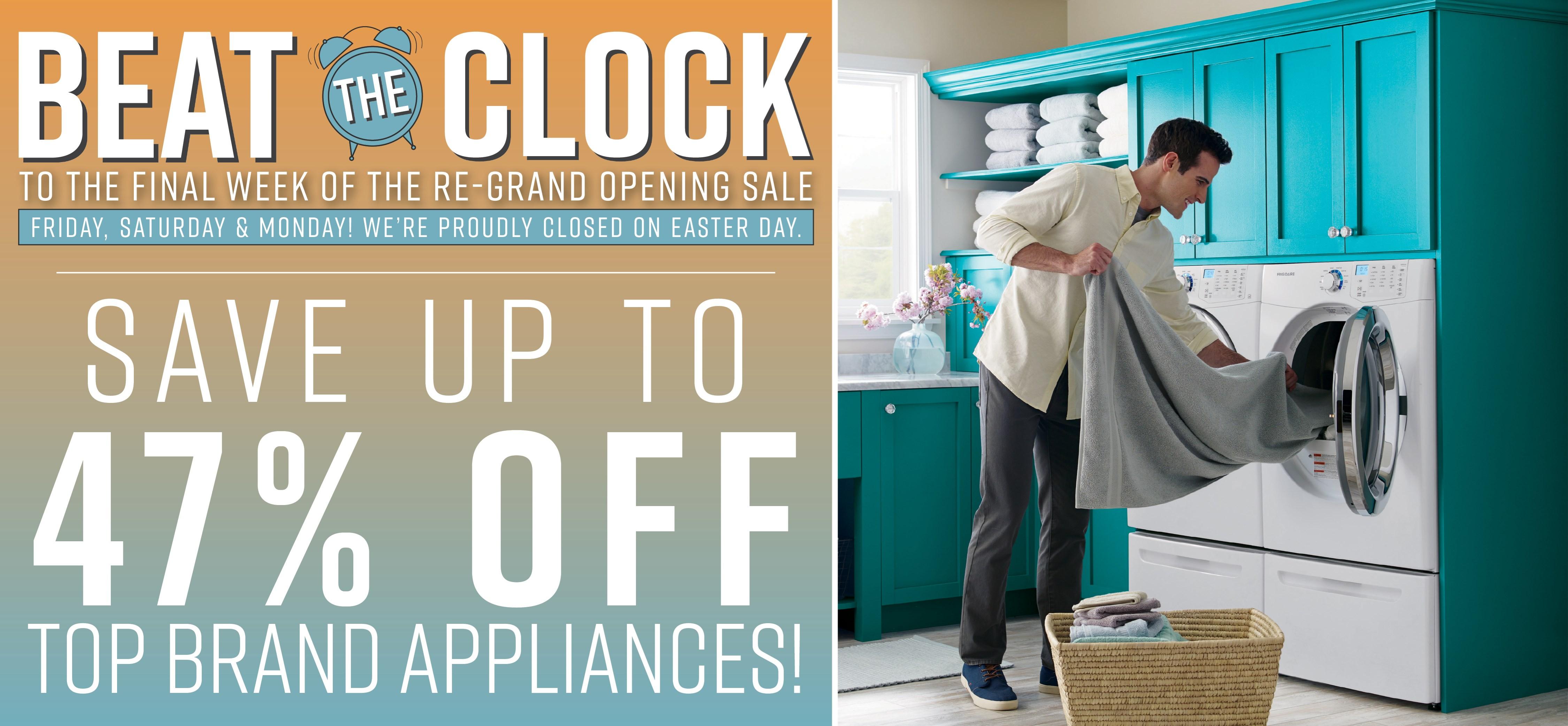 Furniture & ApplianceMart Beat the Clock Easter Weekend