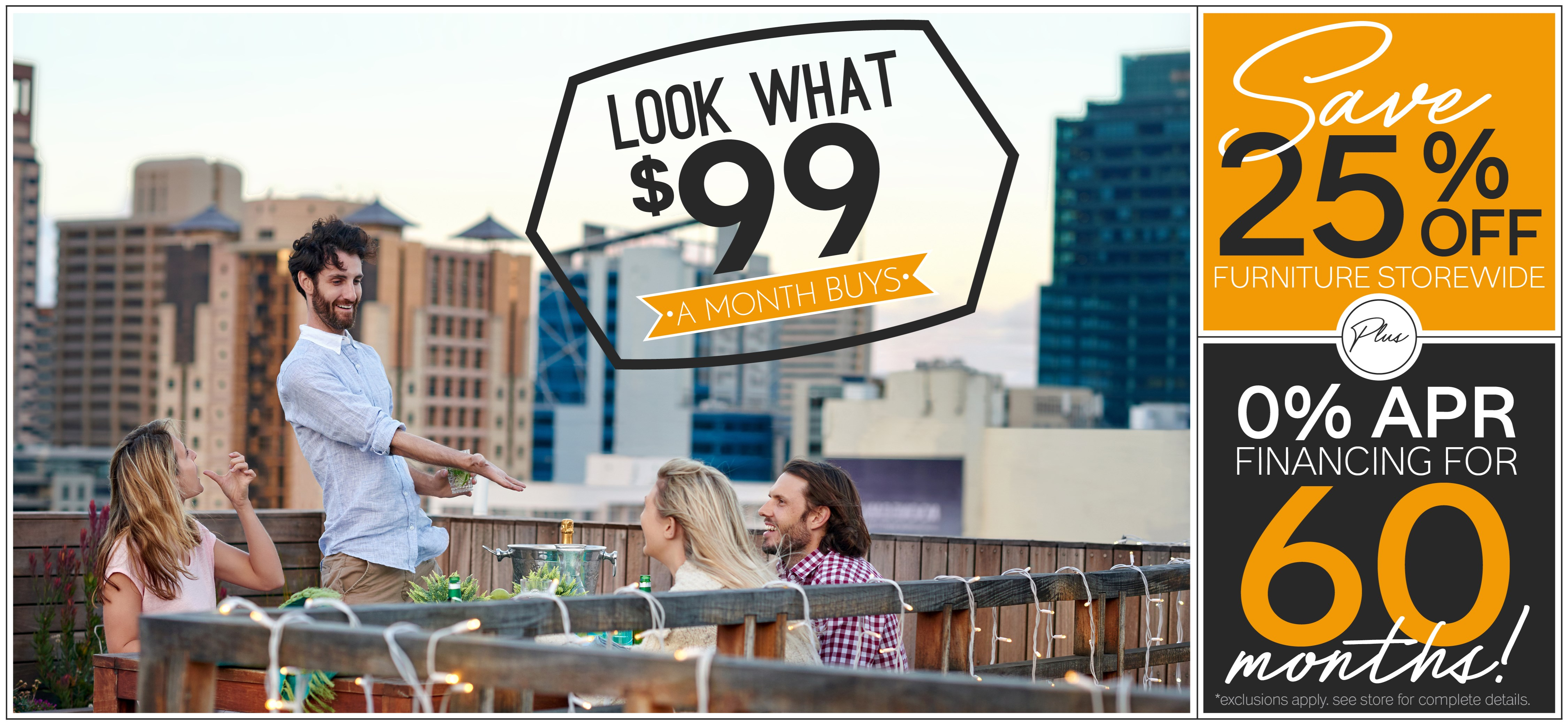 Furniture & ApplianceMart Look What $99 A Month Buys Sale