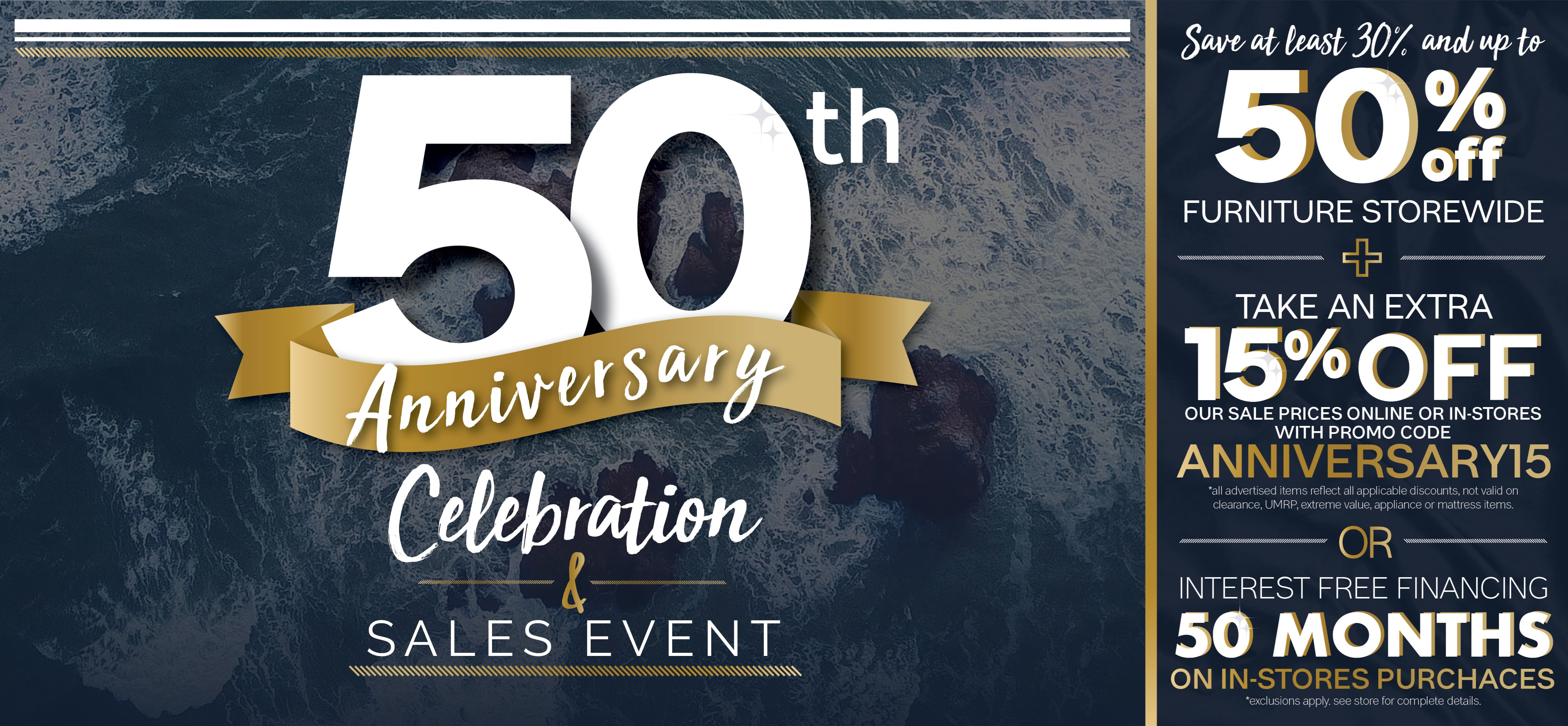 Furniture & ApplianceMart 50th Anniversary