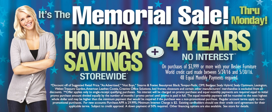 Memorial Sale (Thru Monday)