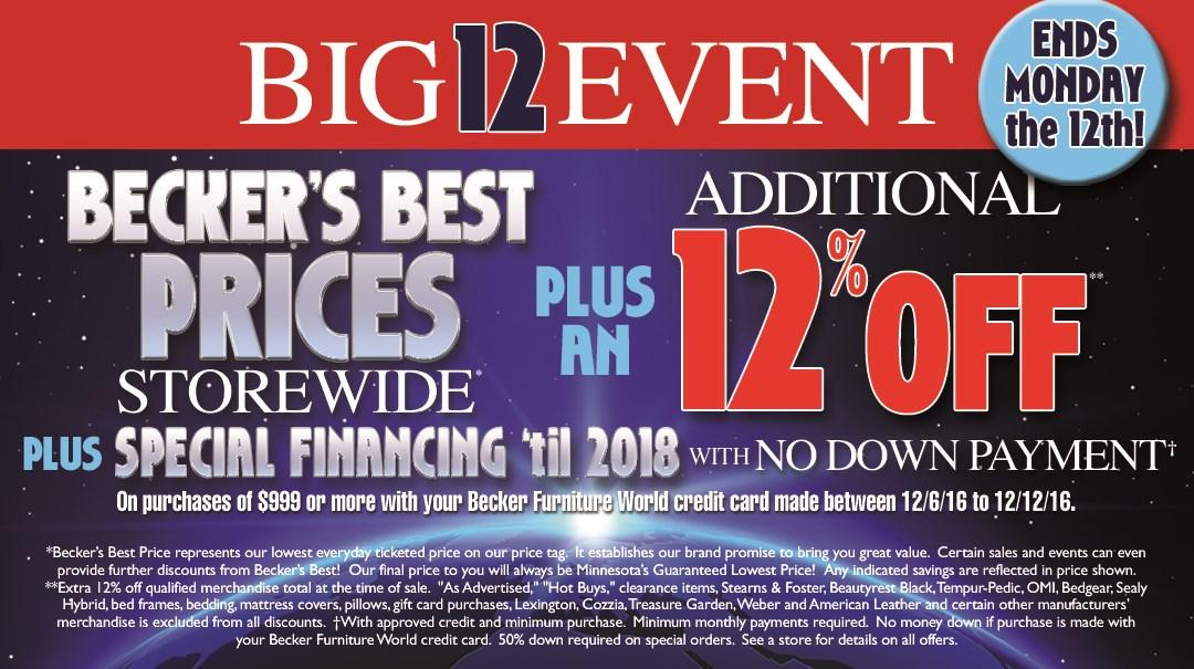 Big 12 Event (Thru 12th)