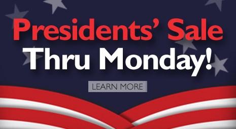 Presidents' Sale (Thru Monday) 2017