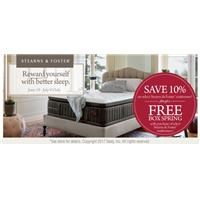 Save 10% on Stearns & Foster