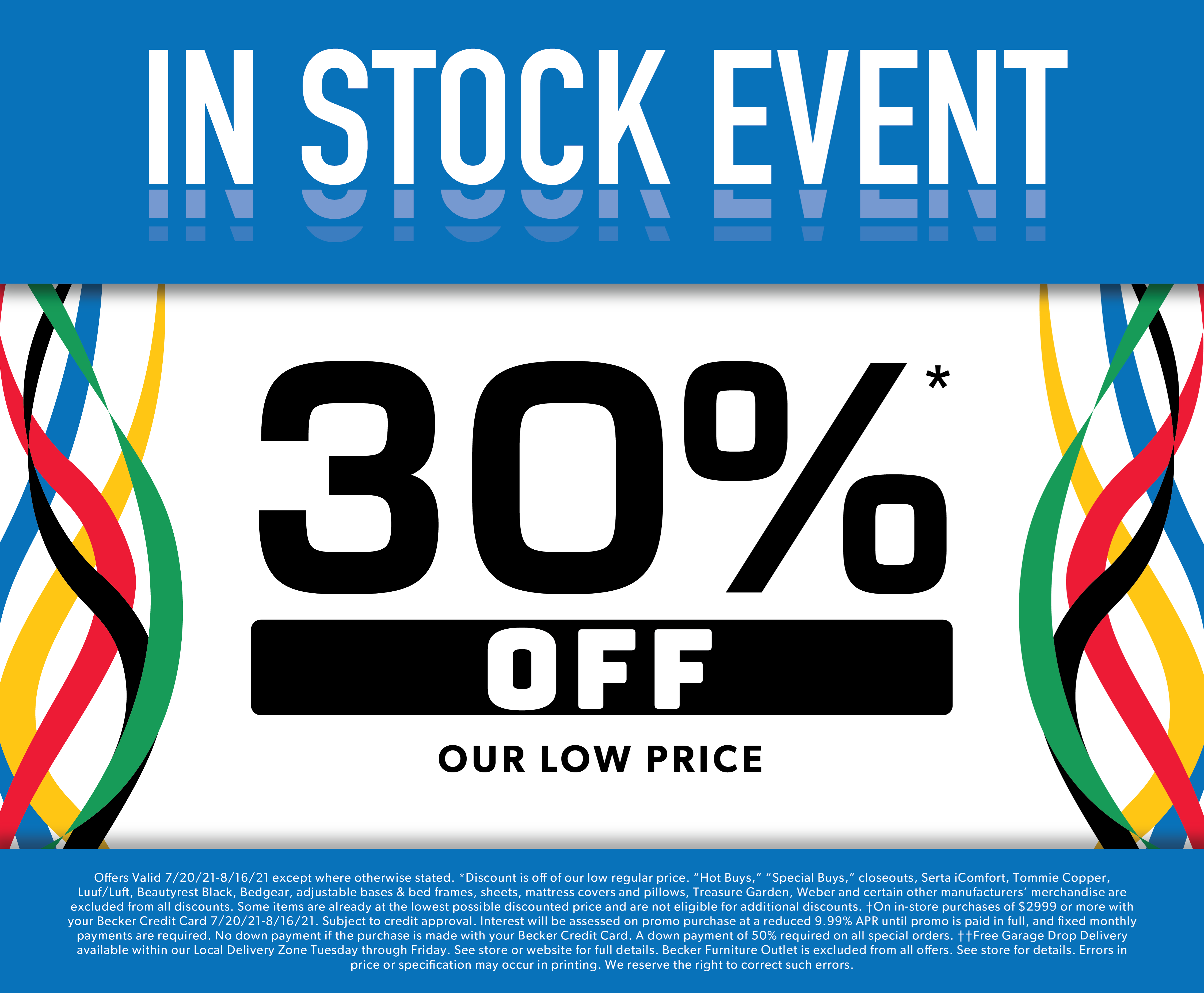 IN STOCK EVENT GOING ON NOW!