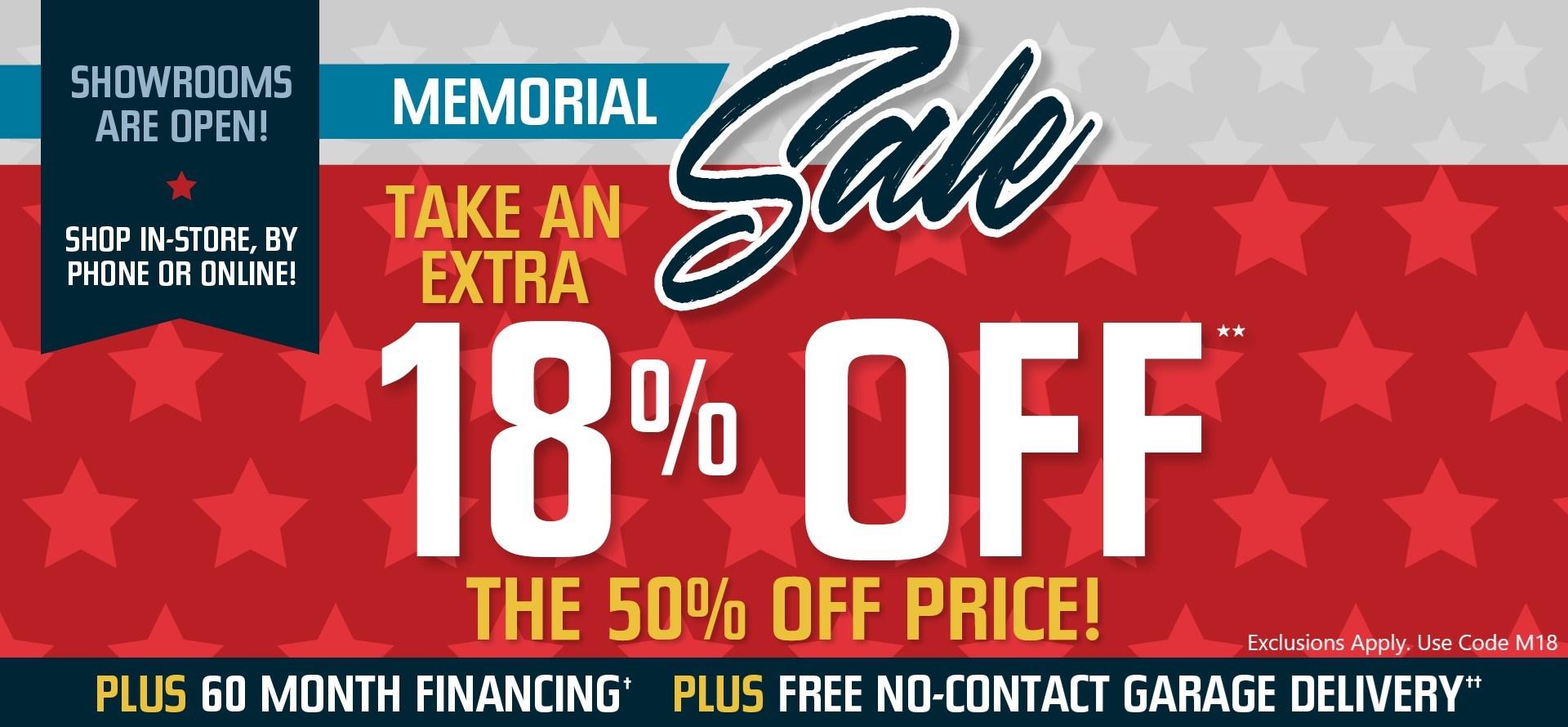 Memorial Sale