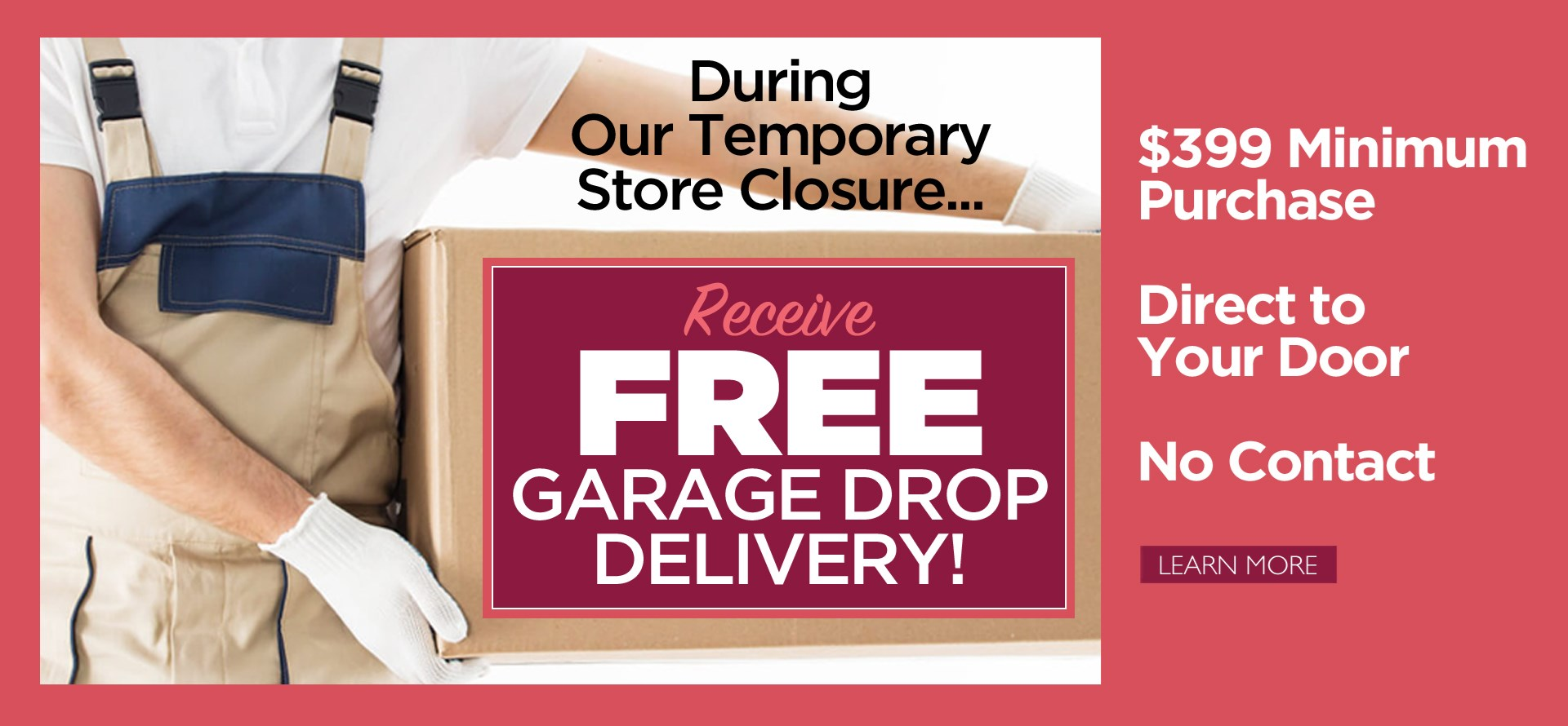 Free Garage Drop Delivery (April 2020)