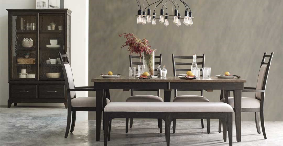 kincaid plank road dining set with bench