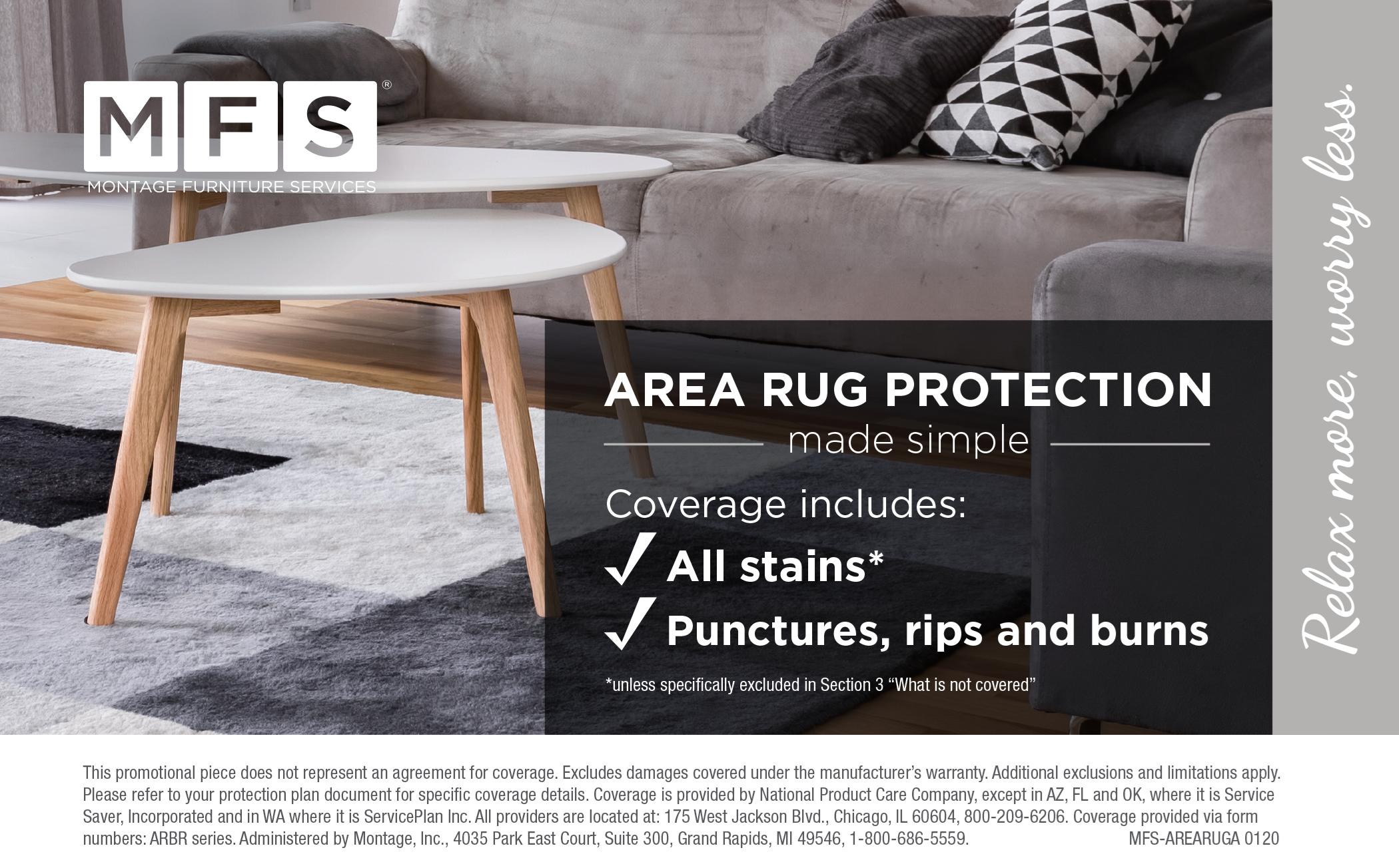 Area Rug 5-Year Protection Graphic