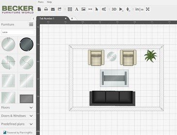 Room Furniture Planner room planner | becker furniture world | twin cities, minneapolis