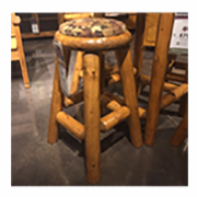 Cabin style stool