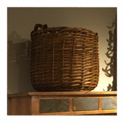 Cabin wicker basket