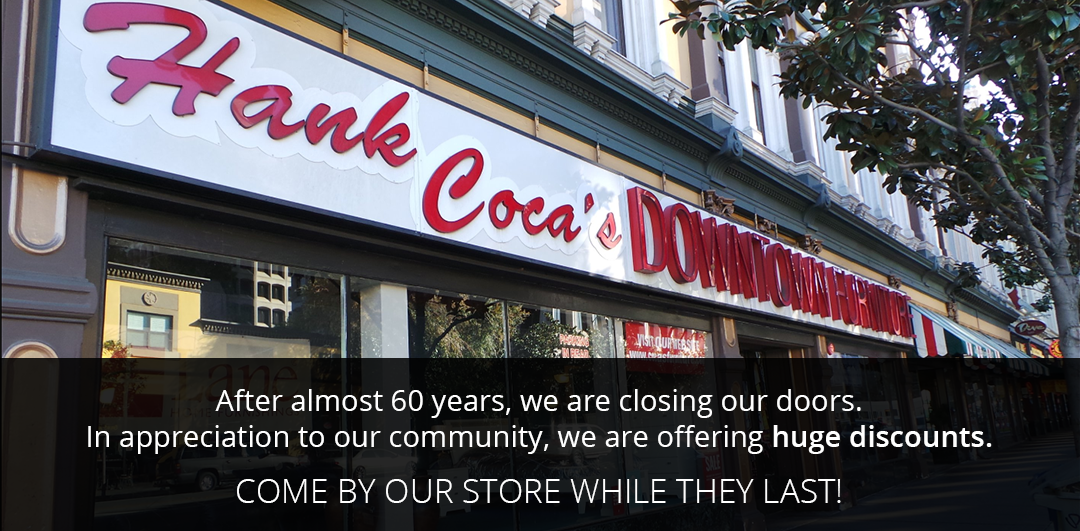 store closing - thanks to our community - stop by for big discounts