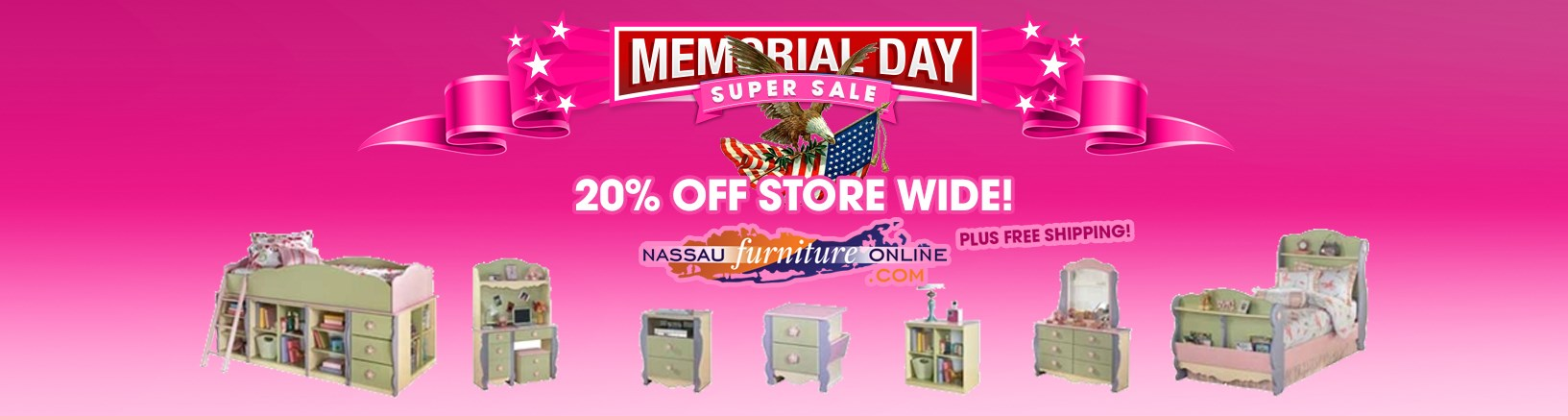 Memorial Day Super Sale at Nassau Furniture! 20% off store wide plus free shipping!