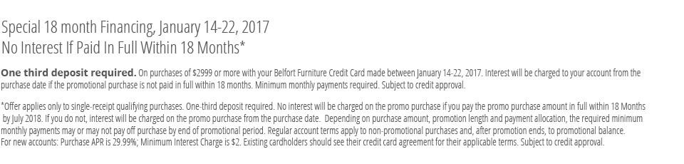 Belfort financing offer