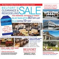 Clearance and Remodeling Event extra 15% off blue tags